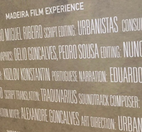 Name on the Madeira Film Experience poster