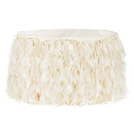 Curly Willow 14ft Table Skirt - Ivory