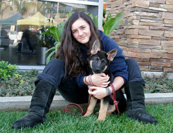 Lyla and her New Dog Koda