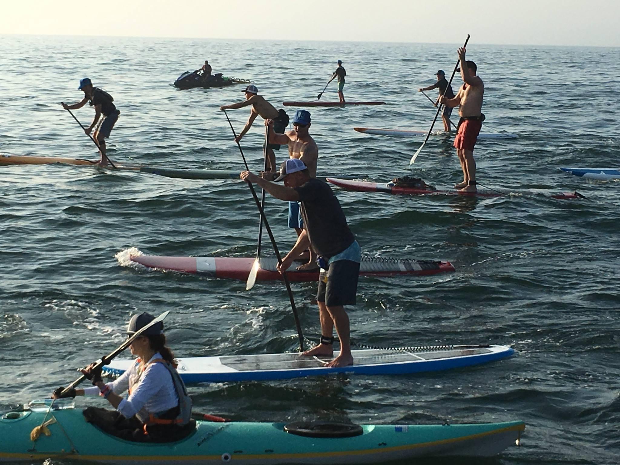 Kayak and Paddlers