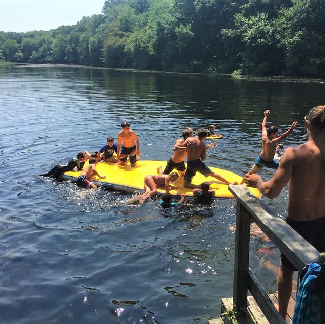 Dock and paddleboard jumping.jpg