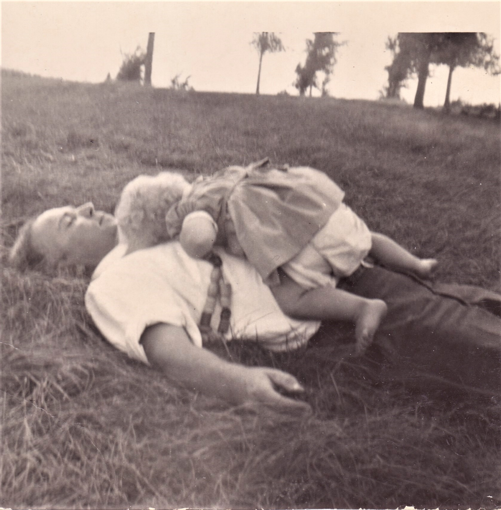 Laying in the grass