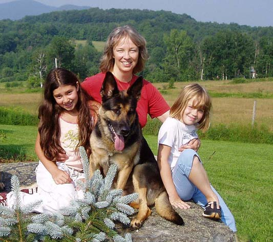 Esther Visiting Linda and her kids in Vt