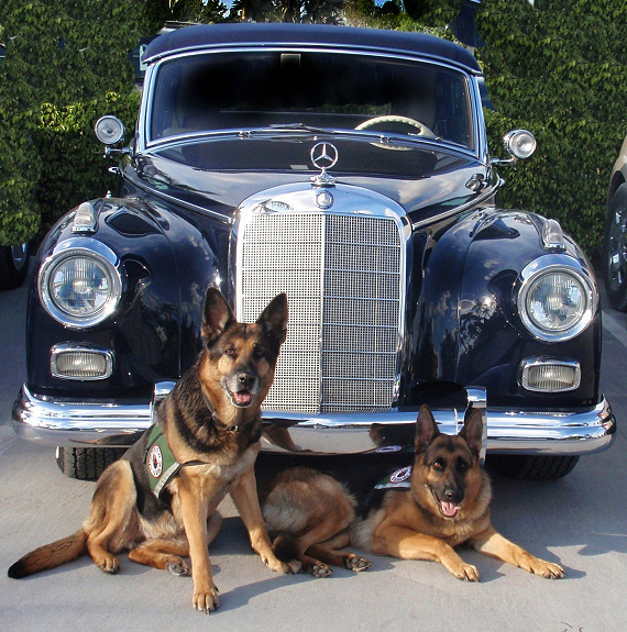 Esther and Ida and an Old Mercedes