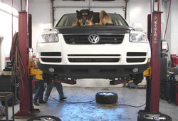 Esther at the Car Doctor