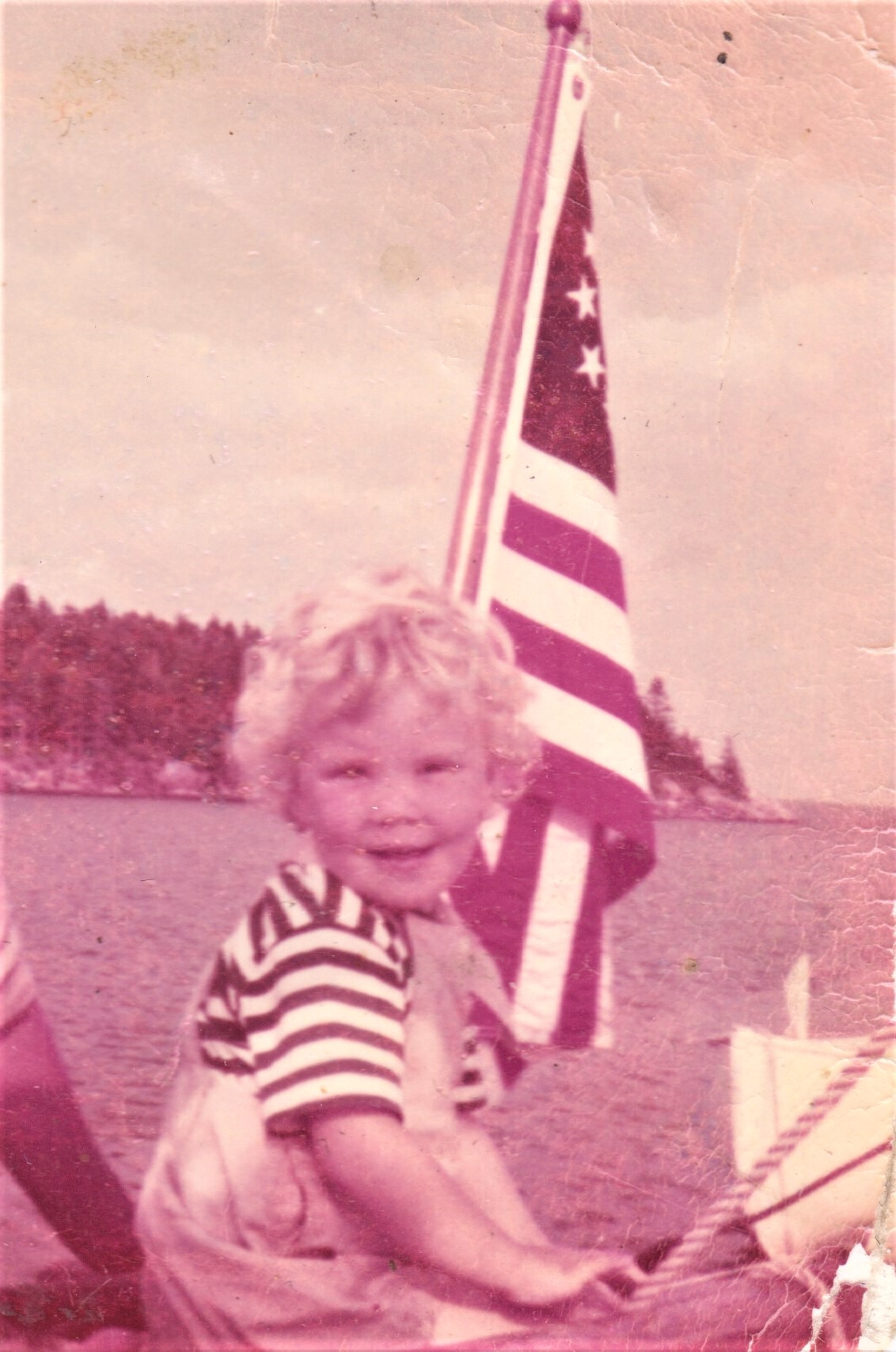 With American Flag