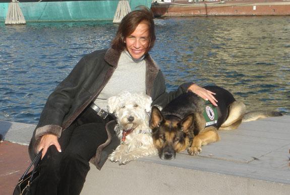 Lisa and her Dog Bailey
