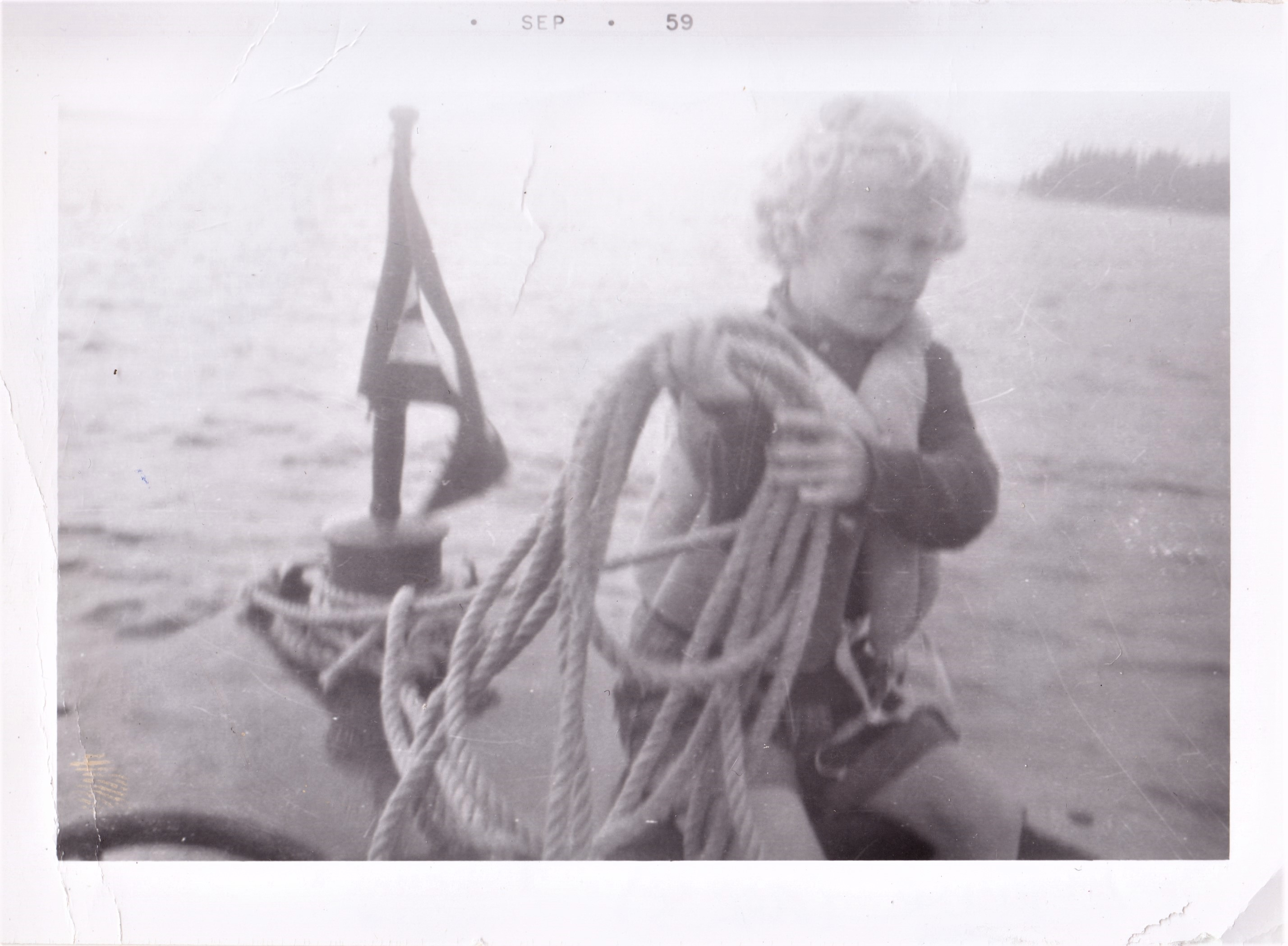 On Boat with Rope