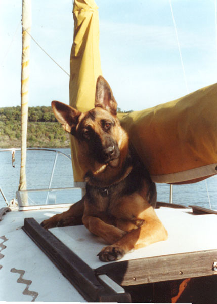 Martha aboard the Roger Darby