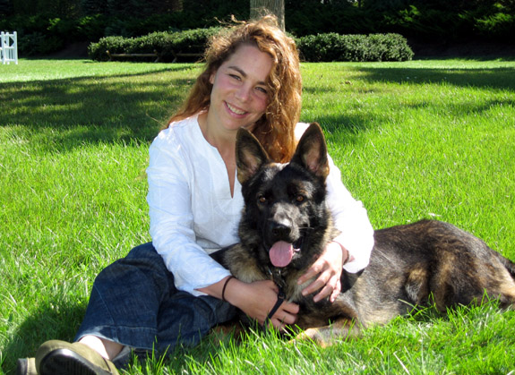Caroline and Her New Dog Dante