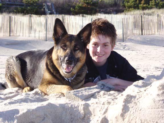 Wesley and Esther on Georgica Beach