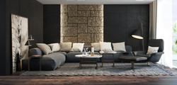 Beautiful-Black-And-Gold-Living-Room-Wit