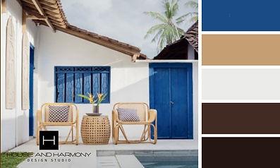 Blue Putdoor Patio