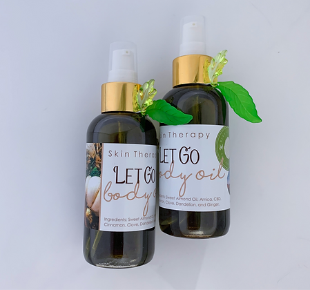 Cinnamon Clove and Ginger. Let Go Body Oil.
