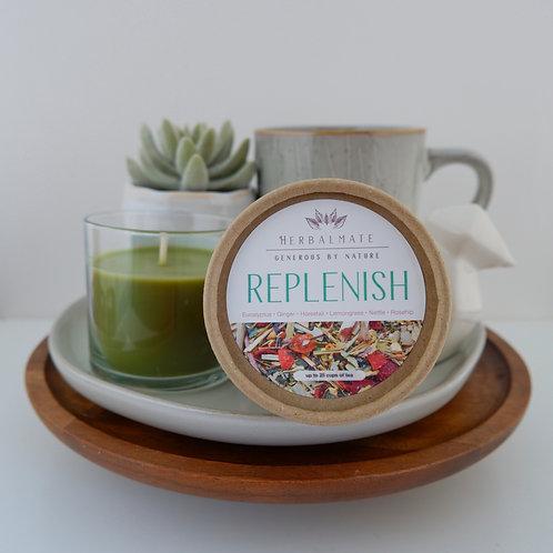 Replenish   Tisane   Bamboo Lemongrass and Eucalyptus