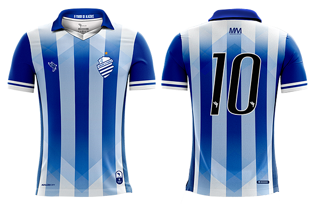 Uniforme 01 do CSA para a temporada 2019.
