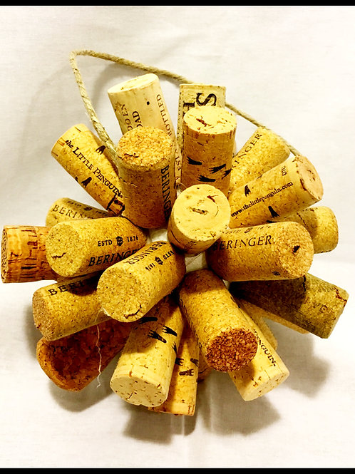Wine Cork Christmas Ornament (Large)