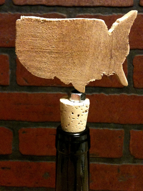 Hand Carved Wooden Country Wine Stopper