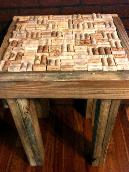 Wine Cork End Table