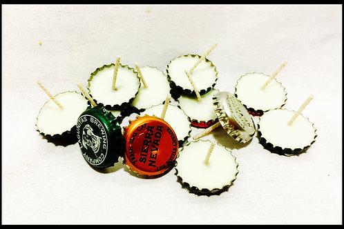 Bottle Cap Tea Lights (set of 5)