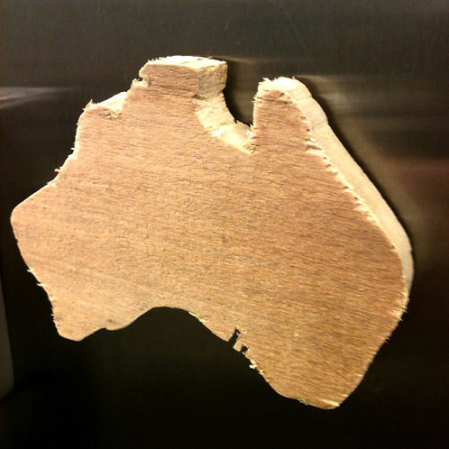Hand Carved Country Magnet