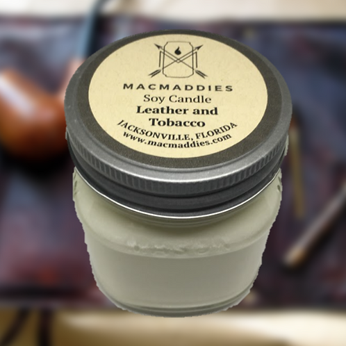 Leather and Tobacco Candle