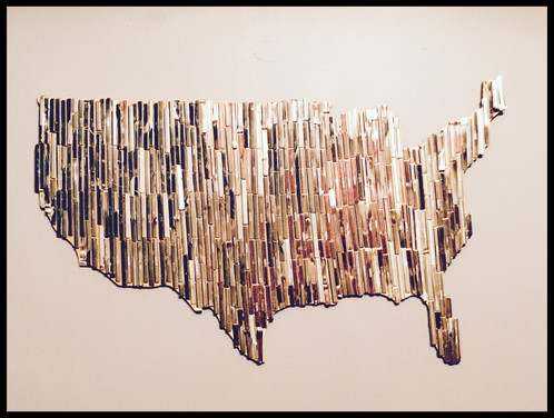 United States Wall Art metal on pallet wood united states wall art | macmaddie's