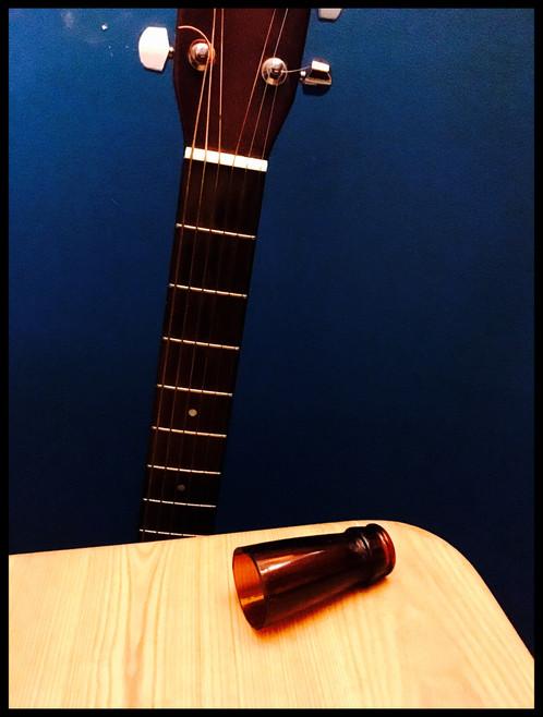 beer bottle guitar slide