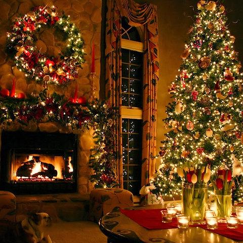 Christmas Hearth.Christmas Hearth Candle