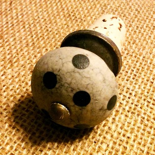 Stone Polka Dot Wine Stopper