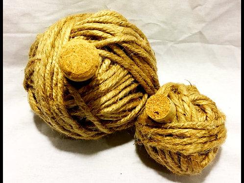 Beige Yarn Pumpkin (assorted sizes)