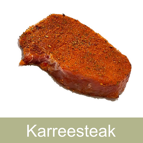 Karreesteak mariniert