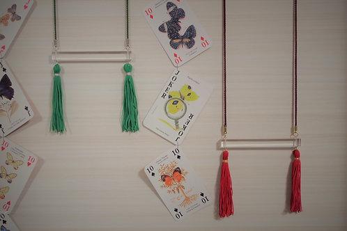 Acrylic × Tassel Necklace
