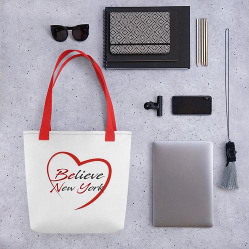 Reusable Believe Heart Tote bag