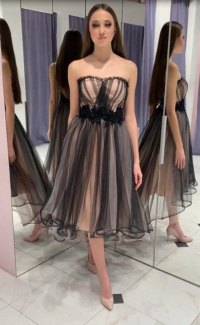 Каскадное платье