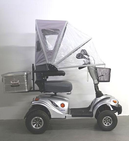 Regenverdeck Regenschutz Regendach Wetterschutz Wetterdach für Elektromobil Elektrorollstuhl