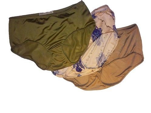 SXSW 3-Piece Silk Granny Panty Jet Set