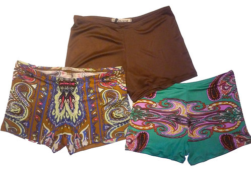 Marrakesh Silk Boyshorts Three-Piece Jet Set