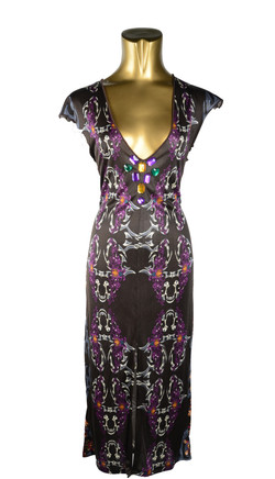 Silk Jersey Biker Dress