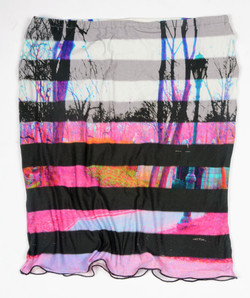 Madchester Striped Photo Skirt