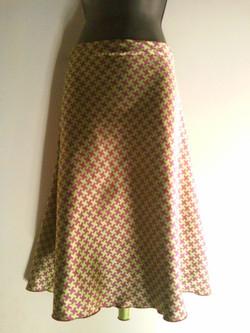 Mardi Gras Silk Houndstooth Skirt