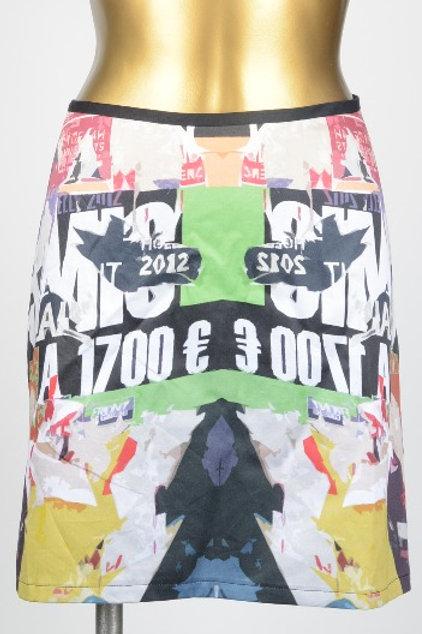 Graphic Exchange Organic Cotton Mini Skirt