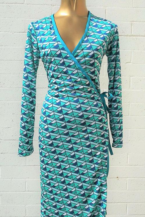 Sail Away Silk Jersey Wrap Dress