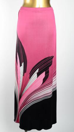 Hibiscus Silk Jersey Maxi Skirt