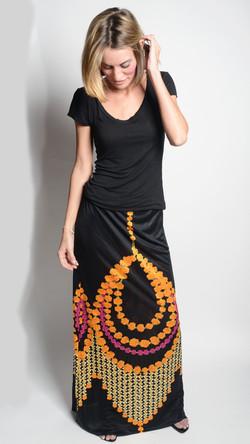 Marigold Silk Jersey Skirt