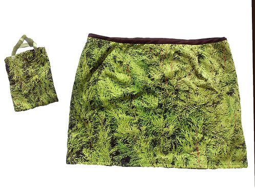 Greenery Organic Cotton Mini Skirt