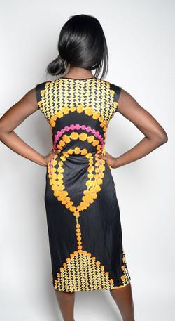 Marigold Silk Jersey Dress