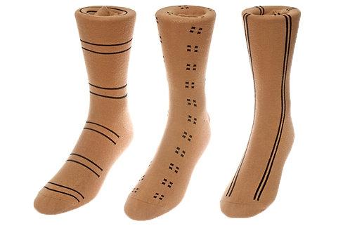 Khaki Beige Intersection Socks