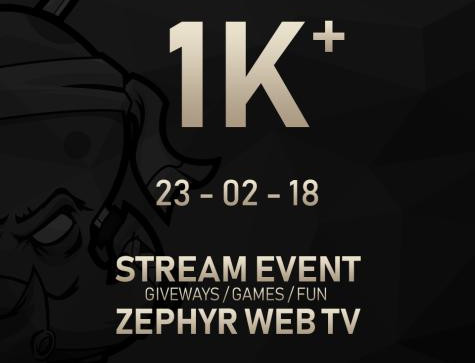 GIVE AWAY DES 1000 FOLLOWERS TWITCH !!!