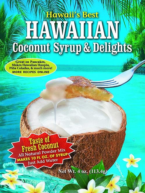 HAWAIIAN COCONUT SYRUP & DELIGHTS 4OZ